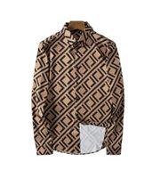 2021 Luxurys Tasarımcılar Erkek Elbise Gömlek Bussiness Şarap Recepti Bir Kokteyl Diess Gömlek Baskılı Erkekler V Boyun Uzun Kollu Rahat M-3XL