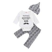 Clothing Sets 0-18M Born Kid Baby Boy Clothes Set Long Sleeve Bodysuit Pant Suit Cotton Tracksuit Cute Sweet