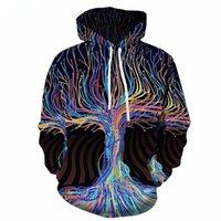 Men's Hoodies & Sweatshirts 3d Tree Men Abstract Hoody Anime Galaxy Sweatshirt Printed Colorful Hoodie Print