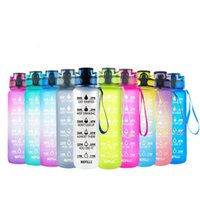 Water Bottle 1L Tritan Material With Bounce Cover Time Scale Reminder Frosted Leakproof Cup For Outdoor Sports Fitness -40