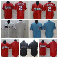Erkekler Beyzbol 2 Caz Chisholm Jr Jersey Takımı Mavi Beyaz Kırmızı Siyah Renk Nefes Saf Pamuk Flexbase Serin Baz Nakış ve Dikiş Satılık Kaliteli