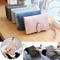 Wallets Women's Wallet Matte Leather Purse Multi-card Female Small Portable Ladies For Women Triangle Folding