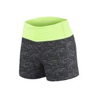 Ins camouflage 2022 fake two piece YOGA SHORTS fitness Lulu sports shorts