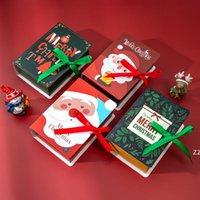 Magic Book Gift Wrap Christmas Candy Chocolate Paper Boxes Party Child Child Festival Prezenty kartonowe Cokie Box Packing Drzewo Wisiorek Decorat HWE8673