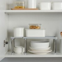 Kitchen Storage & Organization Shelf Shoe Rack Multifunctional Stainless Steel Closet Cabinet Holders Bowl Dish Cupboard Organizer