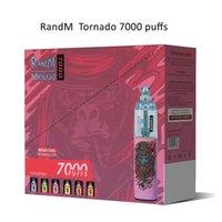 RandM Tornado 7000 Puffs Disposable Vape Pen Electronic Cigarettes 14ml Pod With Mesh Coil Air Flow Control 20 Colors Rechargeable Battery Dazzle