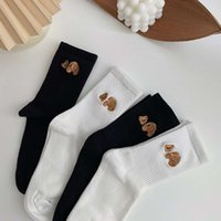 Socks PA Дерево обезглавленные медведь Детская версия среднего чистого хлопка простые длинные трубки носки женские чулки розничные