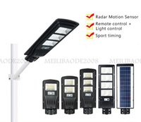 Solar Street Lamps 12m Radar Motion Sensor Waterproof IP67 LED Floodlights Wall Lights Outdoor Landscape Garden Road Light With Pole and Remote Control Flood Lights
