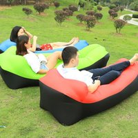 Schlafsäcke Aufblasbare Bett Air Bag Lazy Portable Beach Sofa Outdoor Activity Supply Lounger Aufblasstuhl Camping