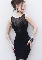 Bridesmaid Dress Style Sexy Prom Gown Crystal Vestido De Festa Robe Soiree Party Black White 2021 Short