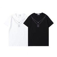 2021 Spring and Summer New L ** OE ** W ** E Collier pour hommes Chaud Diamond Modèle Casual Mode T-shirt à col rond à manches courtes 0516-01