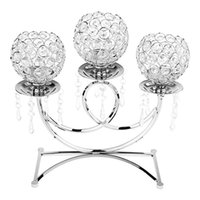 Candle Holders 3 Arms Crystal Candlestick Holders,Table Candelabras,Buffet Cabinet Candelabra Ornaments Table Centerpieces For Wedding Drops