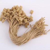 Кусочки / Лот Джут Hang Tag String 7 дюймов Hangtag Cand для одежды пряжи