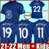 2021 CFC Soccer Jersey Pulisic Ziyech Havertz Kante Werner Abraham Chilwell Mount Jorginho 2022 جيرود كرة القدم قميص 20 21 22 الرجال + أطفال كيت بوي مجموعات