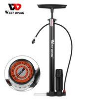 مضخات الدراجة الغربية ركوب الدراجات مضخة الطابق 160 PSI ارتفاع ضغط قياس الدراجات الهواء نافخة الملحقات MTB الطريق دراجة tyrespumpum