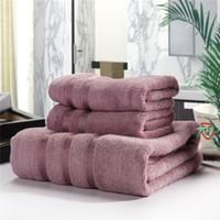 Handtuch 3pcs / set Bambusbad Strand Sets für Erwachsene Weiche Fassungsgesicht Hand Dusche Badezimmer Waschlappen