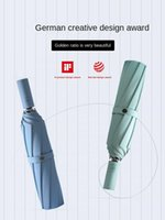 Umbrellas 8mm Umbrella Full-Automatic Large Men's Dual-Use Rain And Women's Folding Student Cool Minimalism Double Oversized