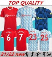 Mann Chester Fussball Jersey 2021 2022 Sancho Pogba Cavani Martial Utd van de Beek B. Fernandes Rashford Lingard Greenwood Varane Football Shirt