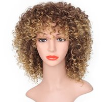 wholesale African short curly hair wig 13inch Afro Wave synthetic wigs