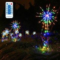 Lawn Lamps Solar Outdoor Grass Globe Dandelion Firework Light Waterproof Copper Wire Flash String LED Garden Landscape Holiday