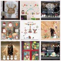 Pegatinas de Pared Elementos de Navidad para Compañía Empresa Decoración del hogar DIY Santa Claus Reno Reno Muñeco de nieve Árbol Nieve Faint Threat Notal