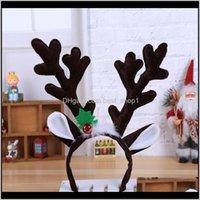 Decorations Festive Party Supplies Home & Garden Christmas Headband Fancy Dress Hat Reindeer Antlers Santa Xmas Kids Baby Girls Adult Novelt