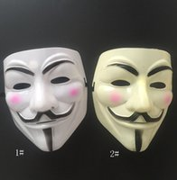 V Mask Masquerade For Vendetta Anonymous Valentine Ball Party Decoration Full Face Halloween Scary Cosplay Masks 10pcs HH21-653