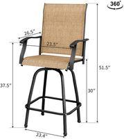 Всепогодные уличные мебели набор Высоких патио поворотных стульев столешницы роста барных табуреток для бистро, газона, сад, садовый лагерь