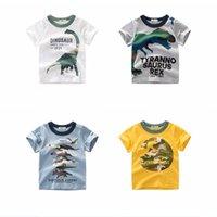 Designs Stampa dei cartoni animati Baby Boys Dinosaur T Shirt per Estate Infant Bambini Ragazzi Ragazze Leone T-shirt Abbigliamento Cotton Bambino Lettera Top 808 x2
