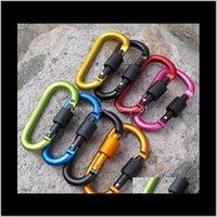 8cm Aleación de aluminio Mosquetón Dring Llavero Clip Multicolor Camping Llavero Snap Gancho Al Aire Lugar de viaje Kit QuickDRAWS C0DWV CA HUJYC