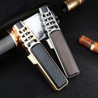 Sigara Borular Kalem Püskürtme Tabancası Jet Bütan Boru Çakmak Metal Gaz Mutfak Kaynak Torch Turbo Rüzgar Geçirmez Gadget'lar