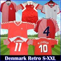 الرجعية الدنمارك 1998 كأس العالم لكرة القدم جيرسي 86 92 98 m.laudrup heintze b.laudrup jørgensen helvegg schmeichel 1986 1992 أعلى قميص كرة القدم الكلاسيكي