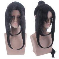 Anime mo dao zu shi cosplay wei wuxian wei ying wig halloween sintético pelo yi ling lao zu cosplay pelucas + gorra