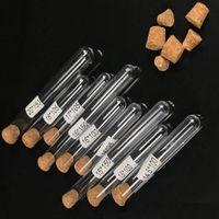 1000pcs Plastic Test Tube With Cork Stopper 7ml 10ml 12ml 15ml 20ml 25ml 30ml 50ml Lab Supplie 20cc Clear Plastic Cosmetic Tube