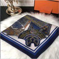 Versione BANDANAS della sciarpa da donna Stampa Seta Legata Maniglia Maniglia Piccola sciarpa a nastro Scarf'altro