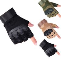 Combat fighting tactics anti-knife cut special half-finger gloves male outdoor climbing sports non-slip foreign trade cross-border DHL ship