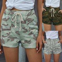 여름 스타일 캐주얼 군사 위장 여성 짧은 프린트 섹시한 feminino 격자 무늬 pantaloon femme 플러스 크기