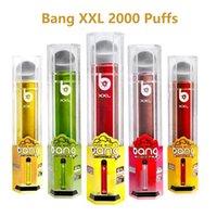 2021 Bang XXL 2000 Puff Descartável E Cigarro 6ml Vape Vape Cigarros Dispositivo Shisha Caneta Vapores XXTRA PENS Vaporizador 800mAh Bateria