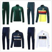 Suite 2021 Club America Mens Football Jacket Kit Encourager 20 21 Unam Soccer Tracksuit Mexique Club Chandal Jogging Pantalon