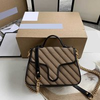 7A + Designer Neue Stil Umhängetasche 583571 Leinwand und Twill Quilting Abnehmbare Metallkettenriemen Es sieht ein bisschen schönere Mode anmutige Taschen aus