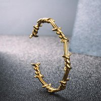 Men's Hip-Hop Rock Fashion Style Jewelry Gift Personality Design Twisted Metal Wire Geometric Open Bracelet For Men Bangle