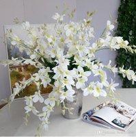 Fleurs décoratives Couronnes de haute qualité artificiels Real Touch Blanc Bleu Orchidée pour la maison Décoration de mariage Decor de table Décor