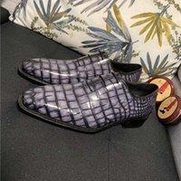남자의 비즈니스 캐주얼 신발 Galet Scrocotto 악어 가죽 옥스포드 수제, 인공 색상 변경 사용자 지정 모델