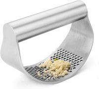 Paslanmaz Çelik Manuel Sarımsak Basın Kavisli Taşlama Dilimleme Kıyıcı Çok Fonksiyonlu Presler Pişirme Gadgets Aracı