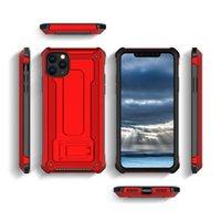 درع مسنده حامل المغناطيسي صدمات غطاء الهاتف الصلب القضية آيفون 12 XS XR 8 Samsung Note 10 Plus