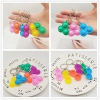 Tik tok push poppers fidegget pops brinquedo simples keychain chaveiro anel dedo dedo bolha popper sensory squeeze brinquedos brinquedos esferas de ventilação anti ansiedade poo-seu g980ao0
