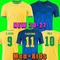 2021 Camiseta Futbol Paqueta Neres Coutinho Brezilya Futbol Gömlek Firmo Jesus Soccer Jersey Marcelo Pele Brasil 21 22 Maillot De Foot