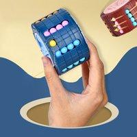 Rotando frijoles mágicos cubo de los dedos fidgets juguetes juguetes niños adultos estrés alivio spin bead puzzles niños educación inteligencia juego
