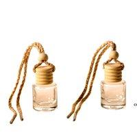 Car perfume bottle car pendant perfume ornament air freshener for essential oils diffuser fragrance empty glass bottle one DHA6218