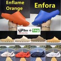 Cool Summer Slide Enflamme Orange Fivea Scoupeuses Dark Desert Bone Résine Hommes Femmes Chaussures Terre Brown Foam Runner Triple Noir Sneakers avec boîte